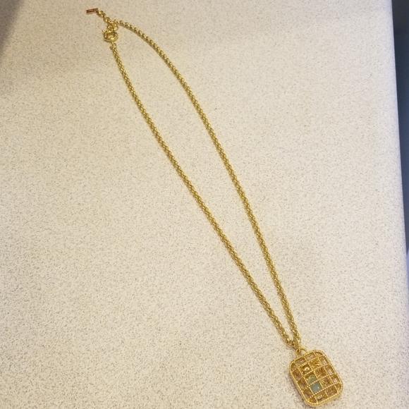 Lily Pulitzer basket case crab cage necklace